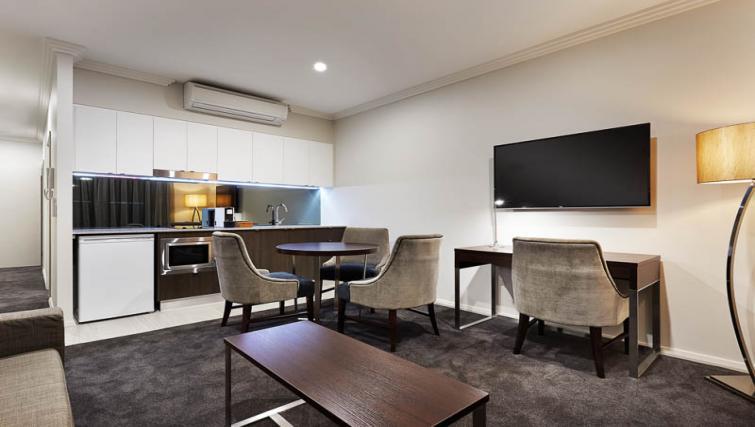 Dining area at Attika Apartments