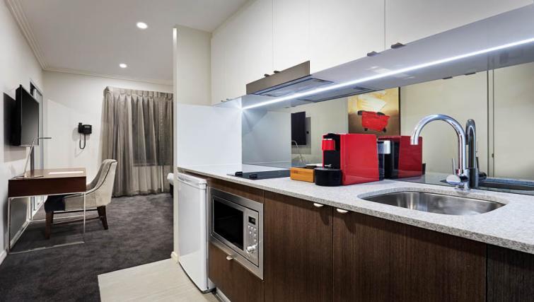 Kitchen at Attika Apartments