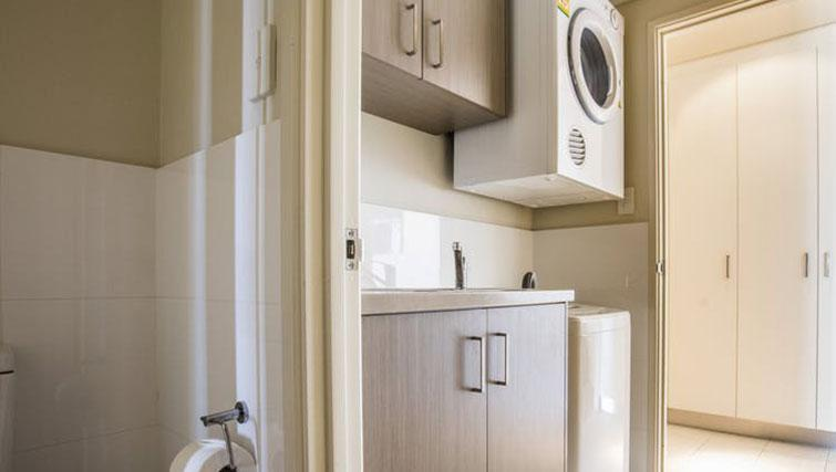 Laundry facilities at Zappeion Apartments