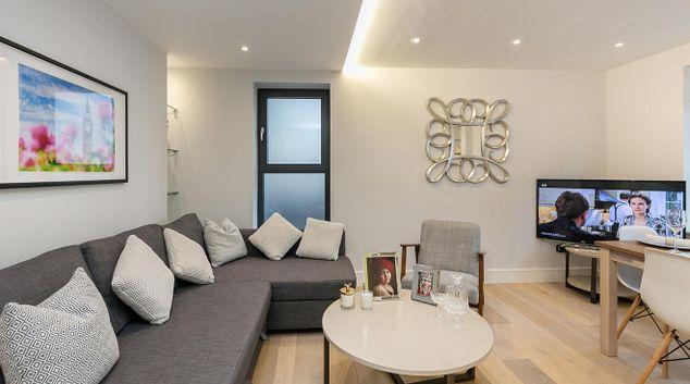 Living room at Basing Street Apartment