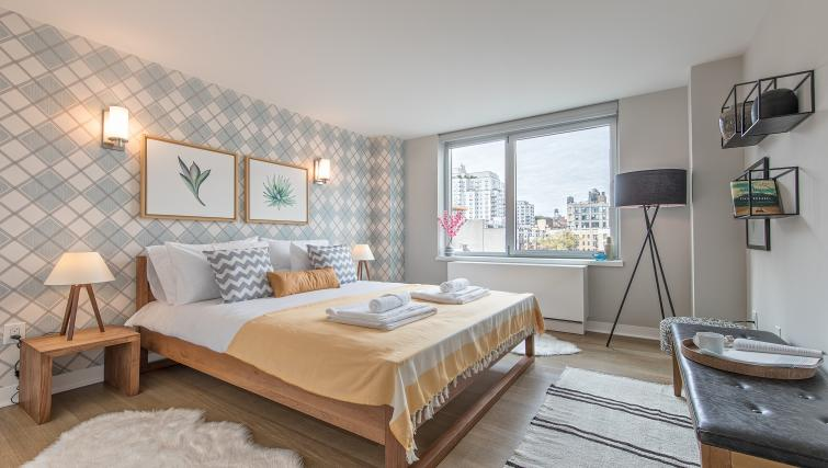 Bedroom at Eleventh and Third Apartment