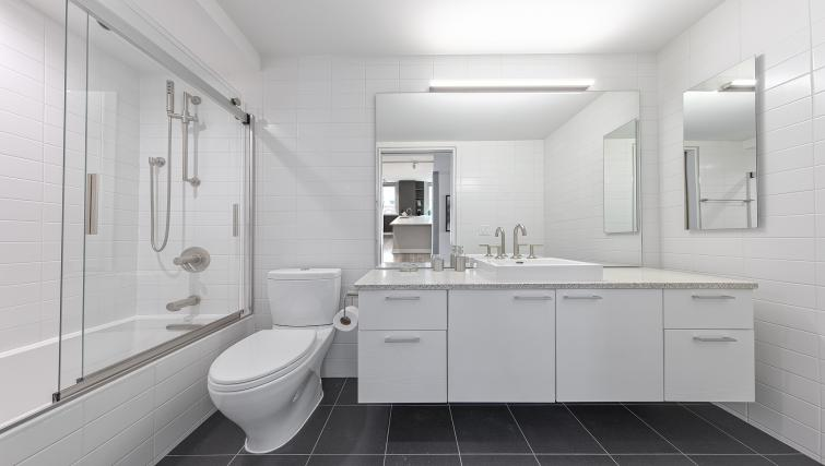Bathroom at  Eleventh and Third Apartment