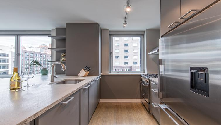 Kitchen at Eleventh and Third Apartment
