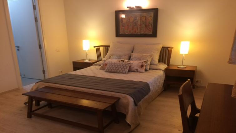 Bed at Skyon Serviced Apartment