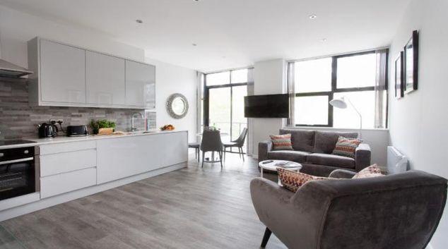 Living area at Cotels at 7Zero1 Apartments
