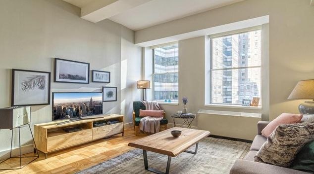 Lounge at the Wall Street Apartment