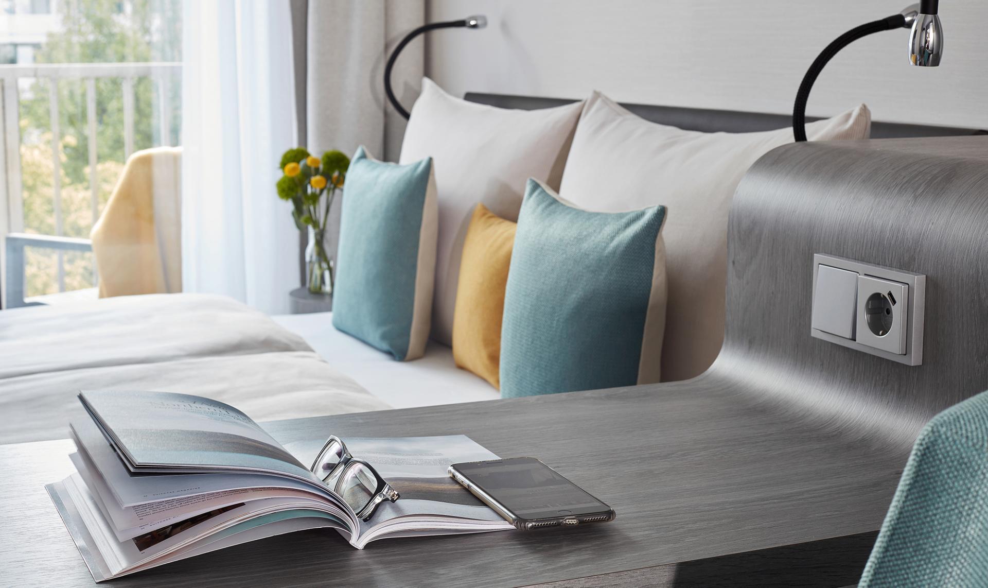 Cushions at Living Hotel Deutschen Museum Apartments, Haidhausen, Munich