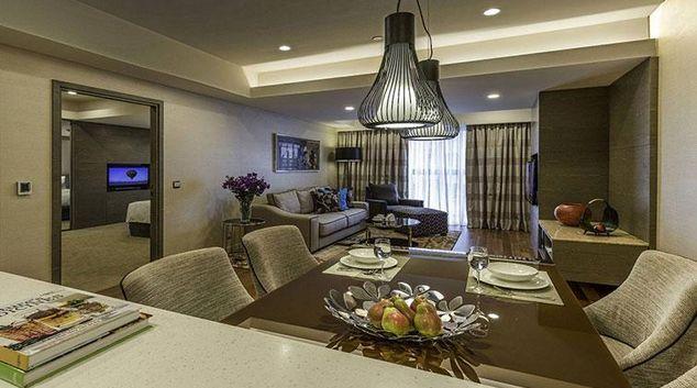 Living area at Ascott Sentral Kuala Lumpur Apartments