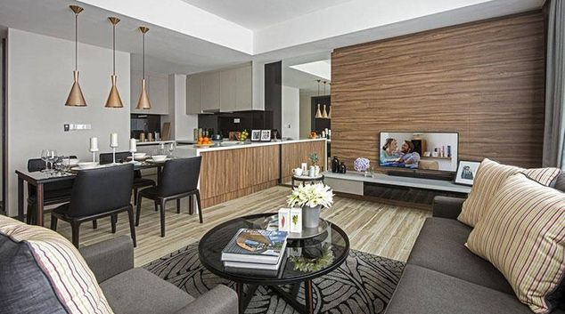 Living area at Ascott Somerset Damansara Uptown Apartments