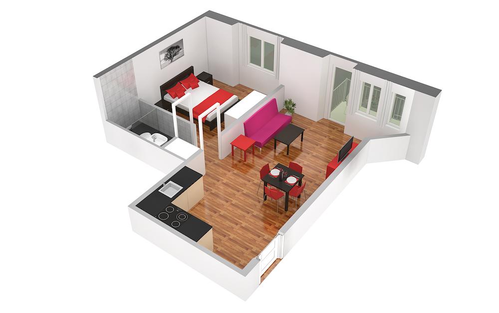 Floorplan 1 at  Oerlikon Apartments