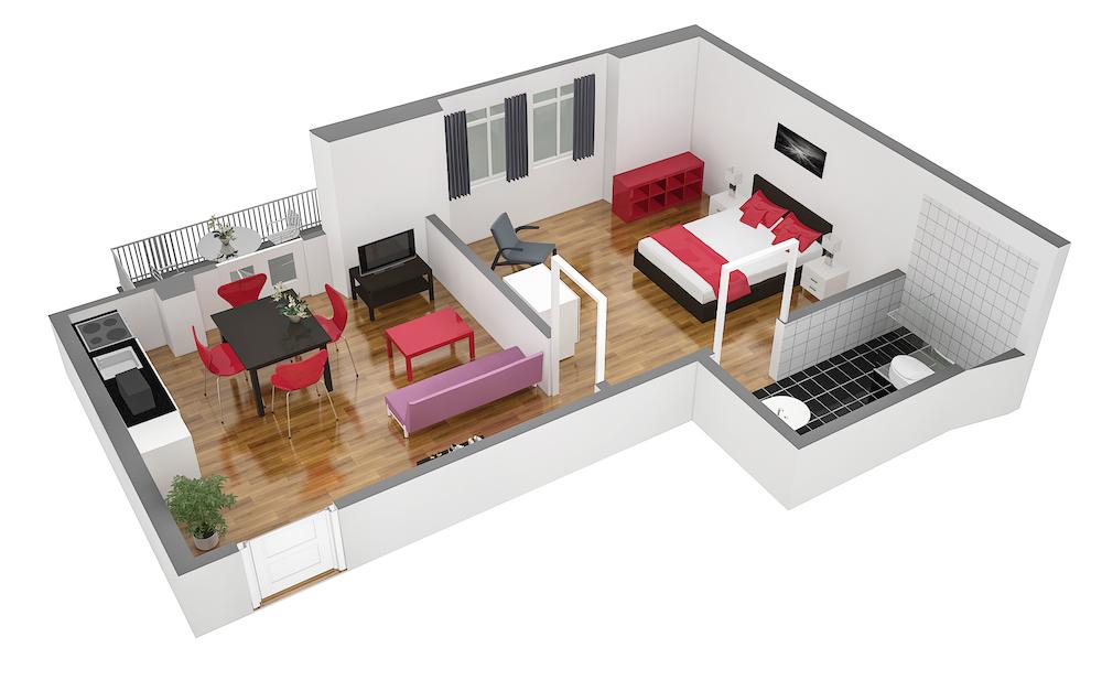 Floorplan 3 at  Oerlikon Apartments
