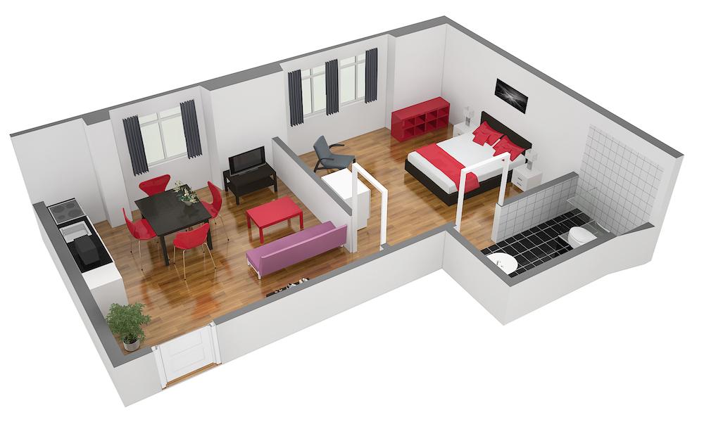 Floorplan 4 at  Oerlikon Apartments
