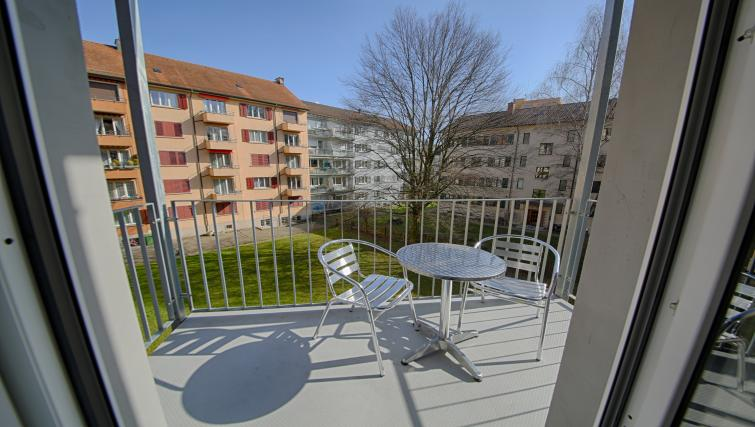 Balcony at the Oerlikon Apartments