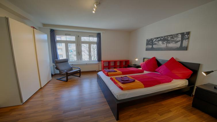 Cosy bed at the Oerlikon Apartments
