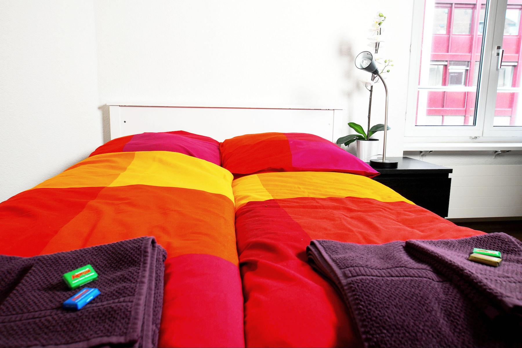 Bedding at  Oerlikon Apartments