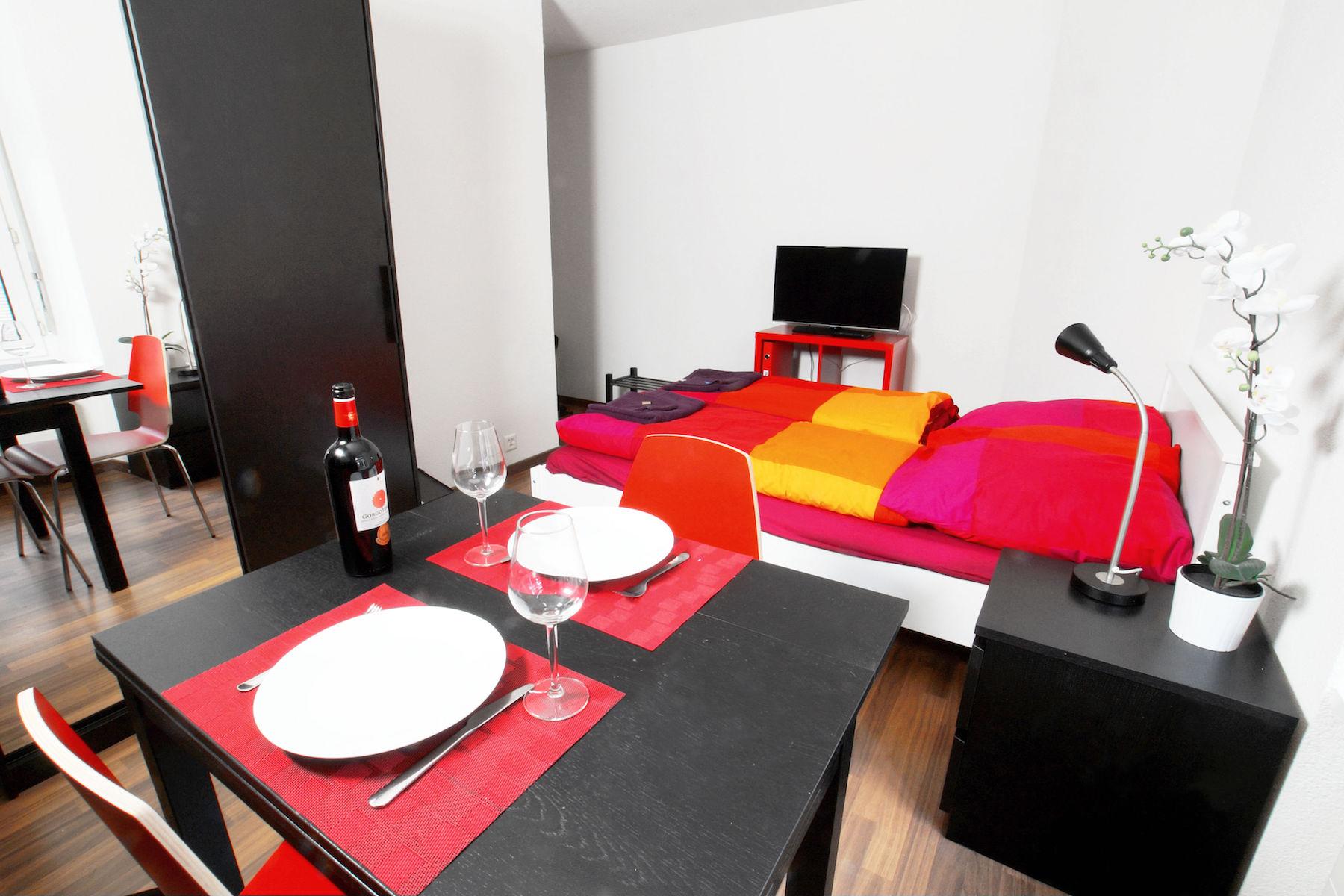 Dining table at  Oerlikon Apartments