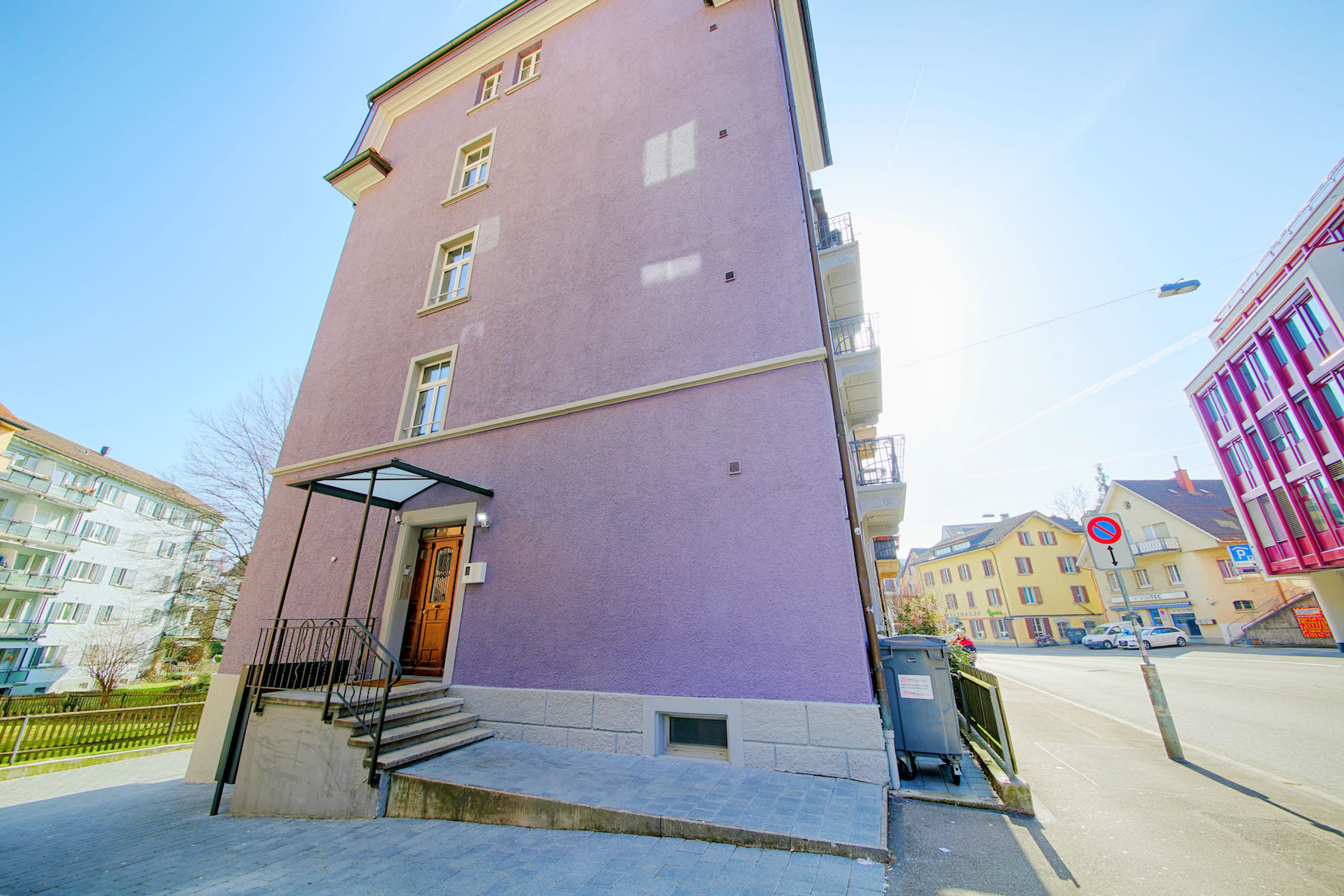 Entrance at  Oerlikon Apartments