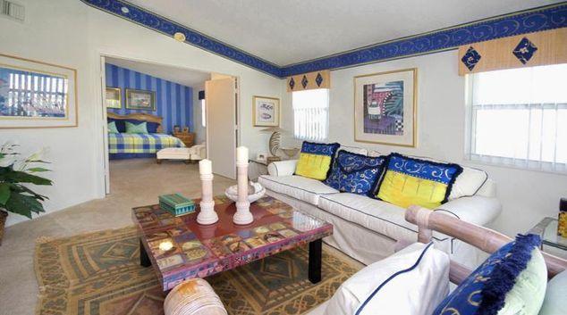 Living area at The Falls at Marina Bay Apartment
