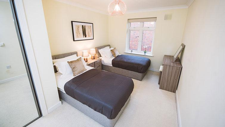 Attractive bedroom at the Royal Swan Apartments