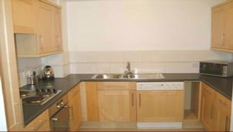Classic kitchen in St Peters Street Apartments