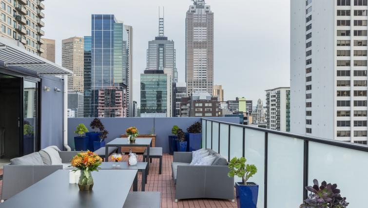 Rooftoop terrace at Fraser Place Melbourne