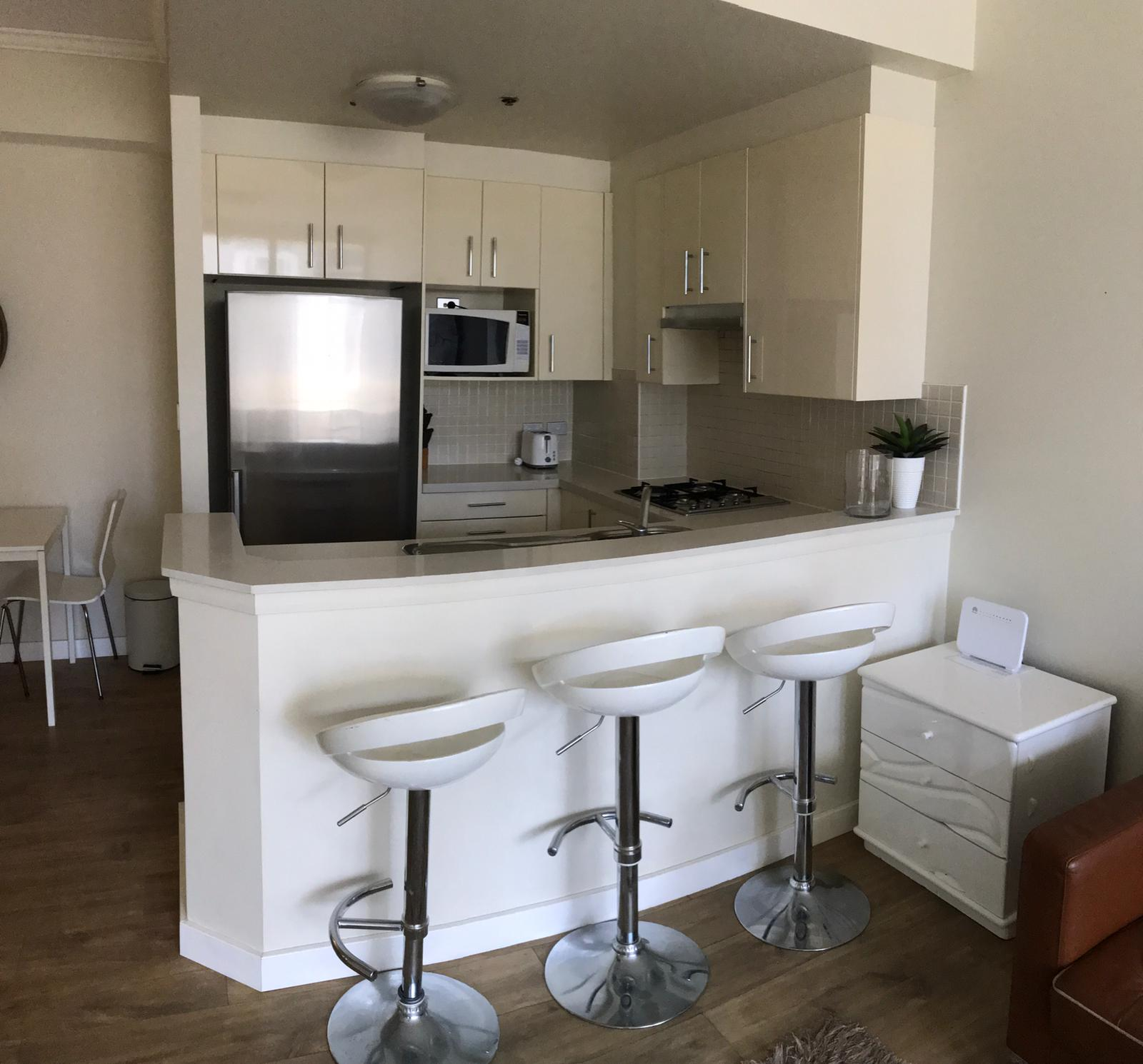 Kitchen at the Downtown Apartments