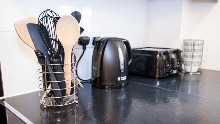 Kitchen facilities at Manor Apartments
