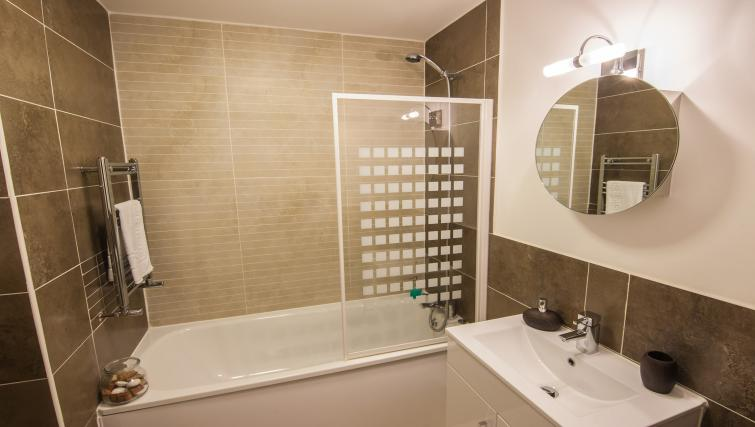 Bathroom at Manor Apartments