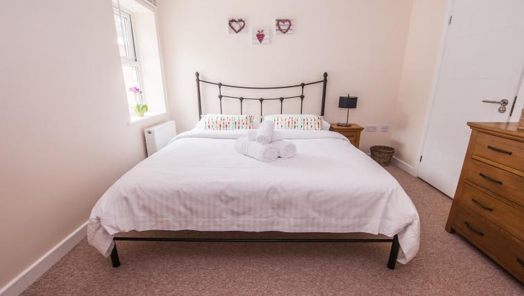 Master bedroom at Manor Apartments