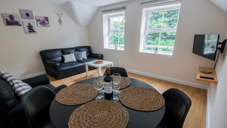 Dining area at Manor Apartments