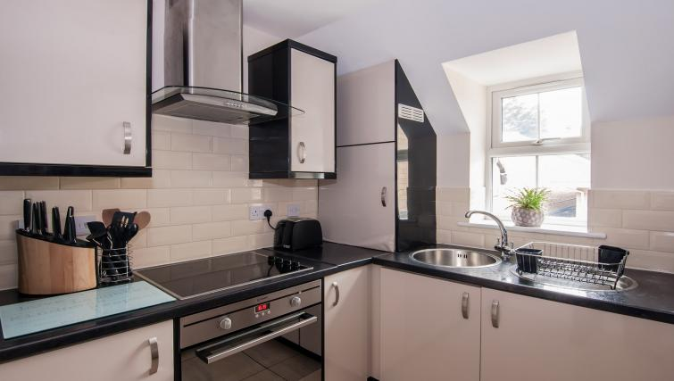 Fully equipped kitchen at Manor Apartments