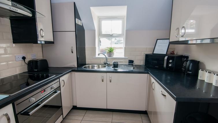 Modern kitchen at Manor Apartments