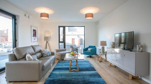 Living area at Hanover Mills Apartments, North Wall, Dublin