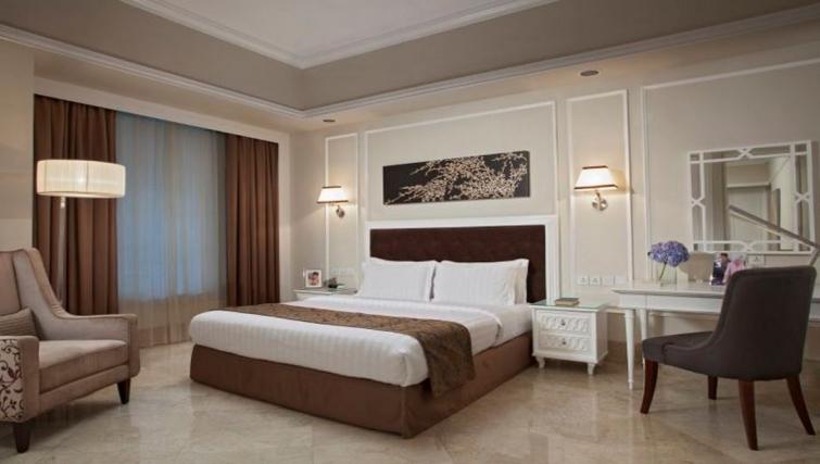 Elegant bedroom in Ascott Jakarta Apartments