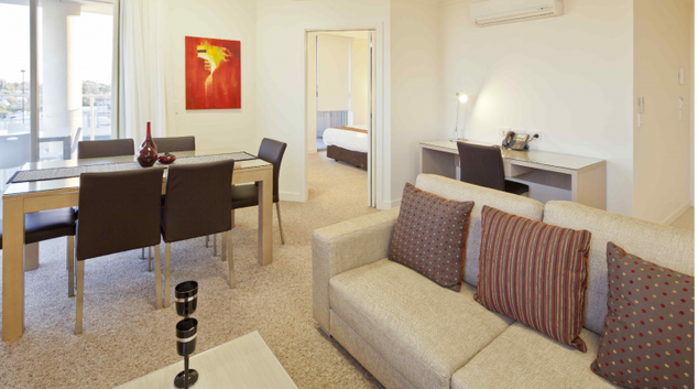 Living room at the Quest South Brisbane