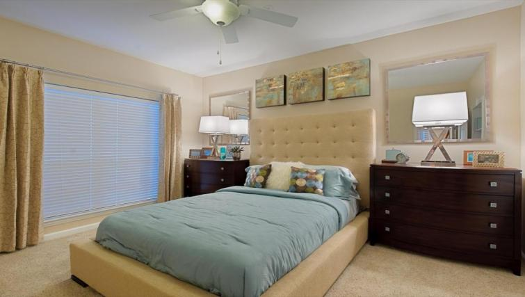 Bedroom at the Camden Phipps Apartments