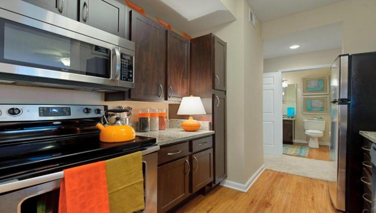 Kitchen at the Camden Phipps Apartments