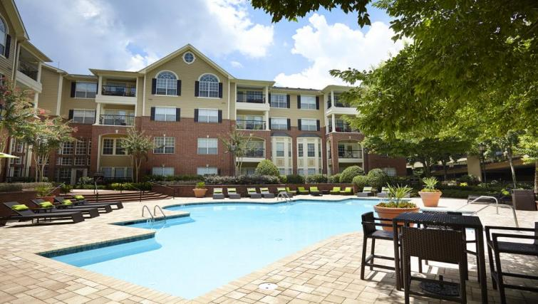 Swimming pool at the Camden Phipps Apartments