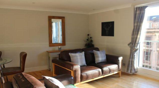 Living room at The Bridge Apartment