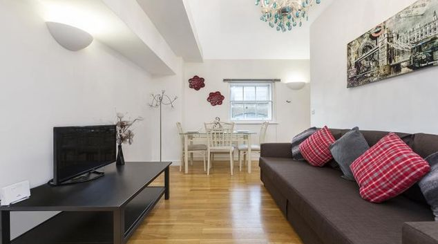 Living room at the Kings Cross Apartment