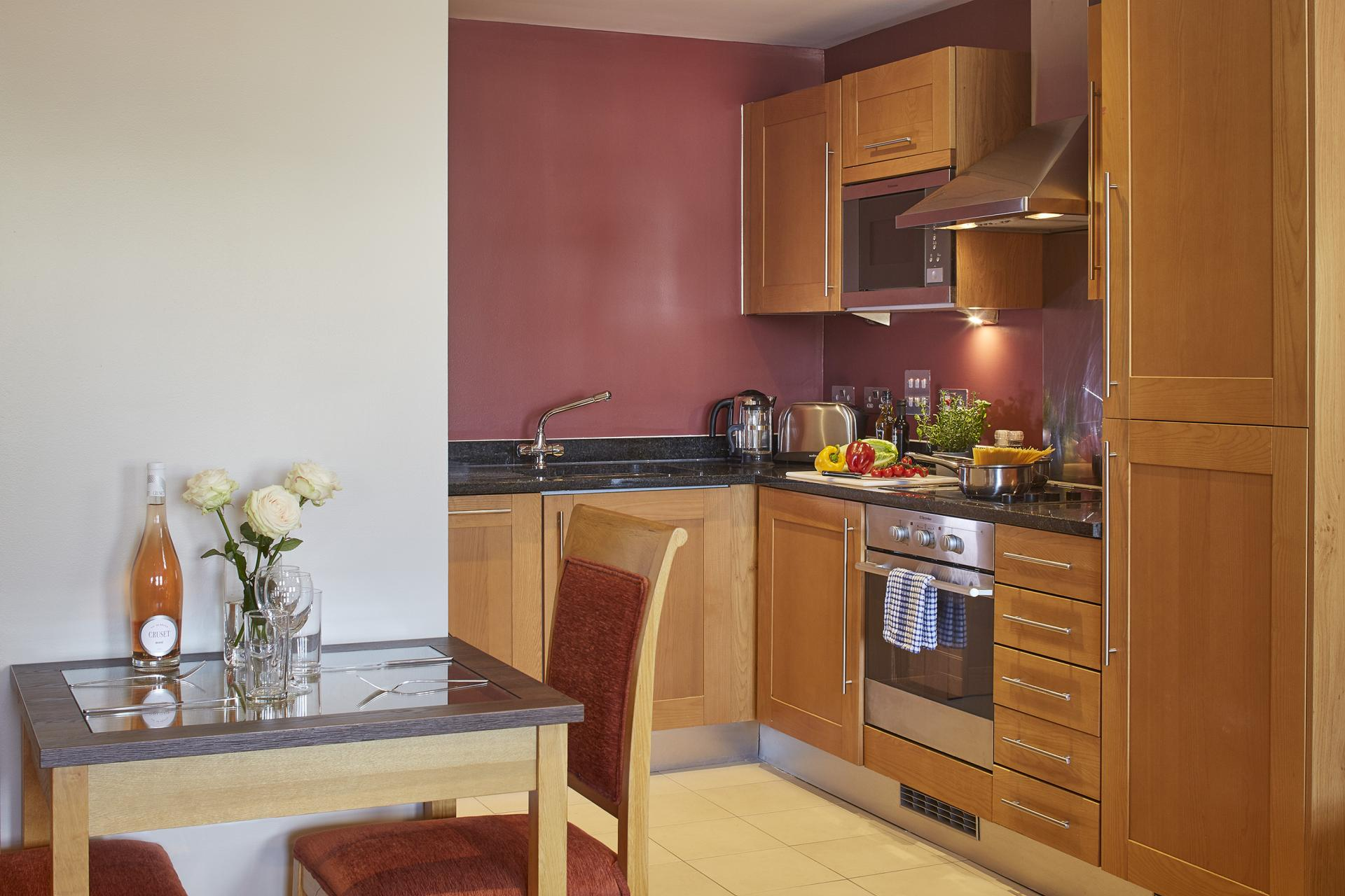 Kitchen at Limehouse Apartments, Limehouse, London
