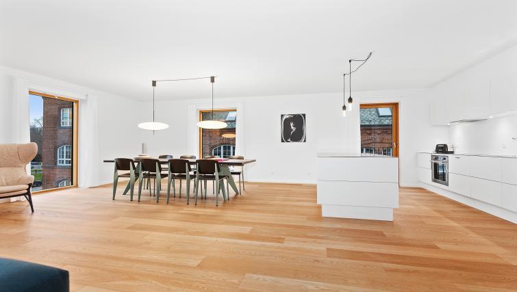 Sleek wooden flooring at the STAY Kastellet Apartments
