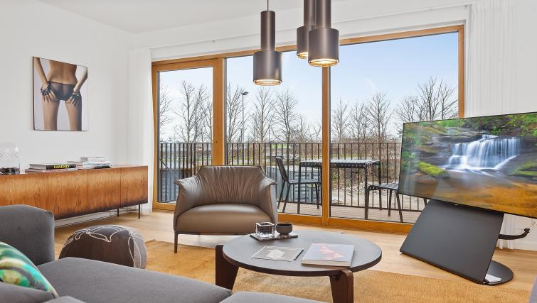 Living room at the STAY Kastellet Apartments