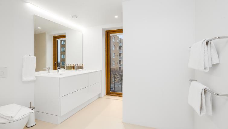 Sleek bedroom at the STAY Kastellet Apartments