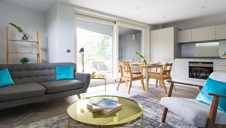 Living/dining area at Alexandra Road Apartments