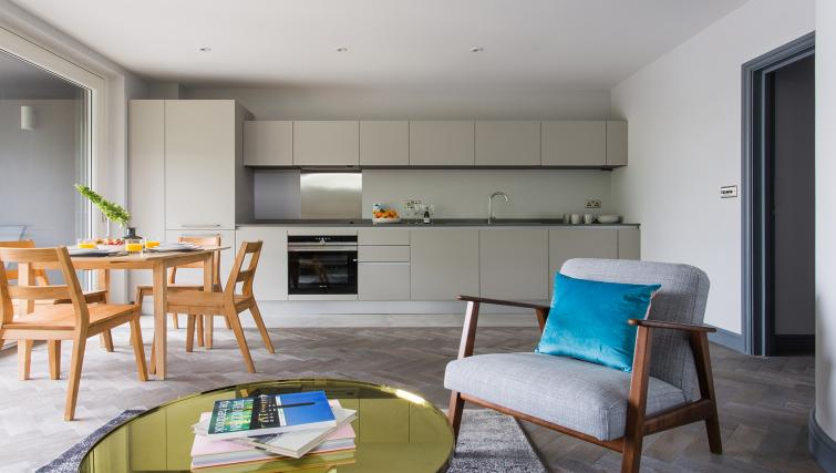Equipped kitchen at Alexandra Road Apartments