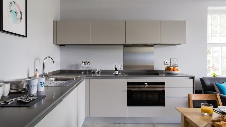 Modern kitchen at Alexandra Road Apartments