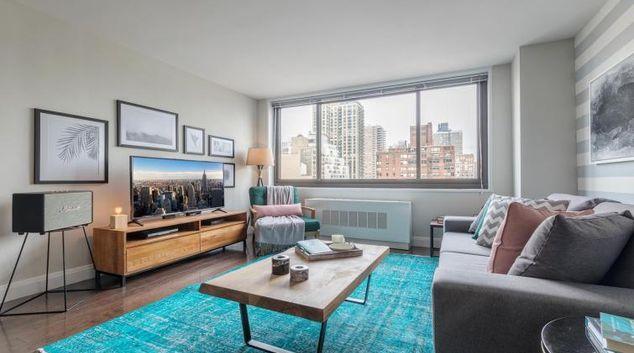 Living room at Wimbledon Upper East Side Apartment