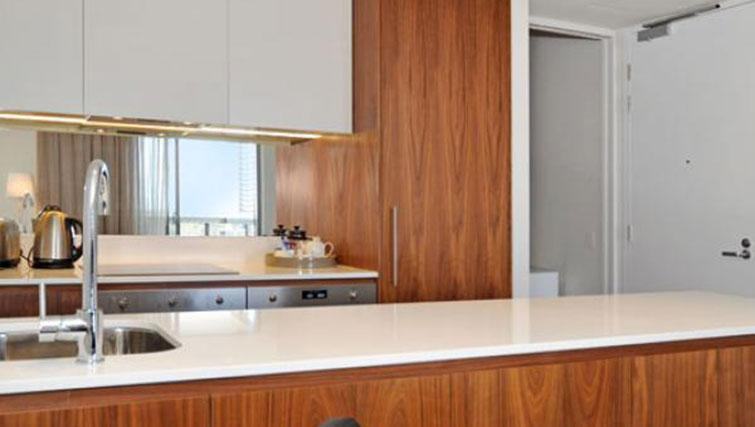 Spacious kitchen at Astra Perth Queens 111 Apartments