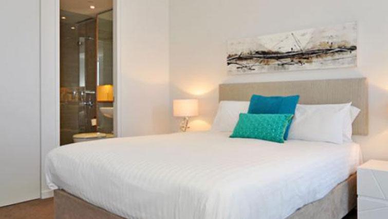 Bright bedroom at Astra Perth Queens 111 Apartments